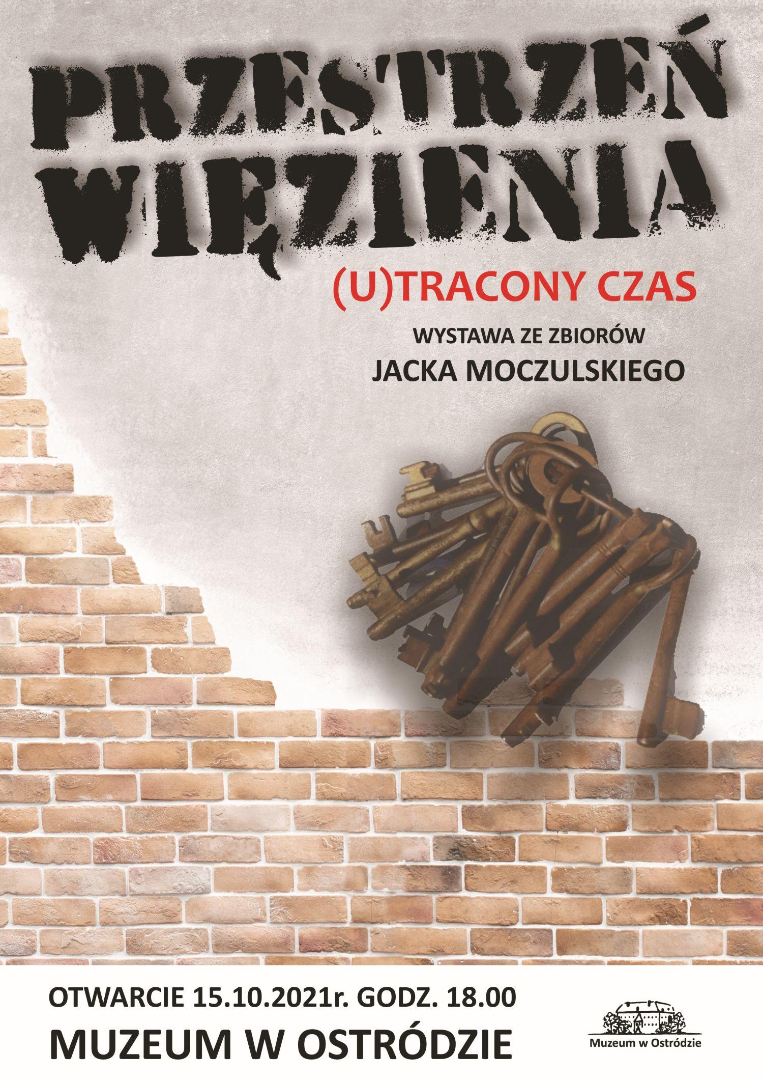 plakat promujący wystawę przestrzeń więzienia